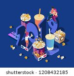 premiere of new movies in 2019. ... | Shutterstock .eps vector #1208432185