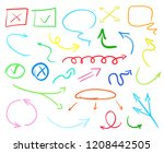 abstract colored arrows and... | Shutterstock . vector #1208442505