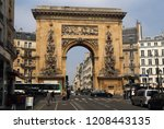 paris  france   may 15  2018 ... | Shutterstock . vector #1208443135