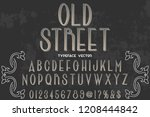 vector illustration font script ... | Shutterstock .eps vector #1208444842