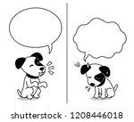 cartoon character jack russell...   Shutterstock .eps vector #1208446018