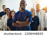 young african male doctor... | Shutterstock . vector #1208448835