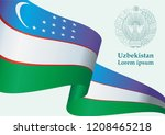 illustrative editorial flag of... | Shutterstock .eps vector #1208465218