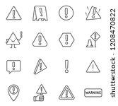 warning sign  icon set.... | Shutterstock .eps vector #1208470822