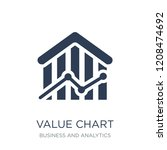 value chart icon. trendy flat... | Shutterstock .eps vector #1208474692