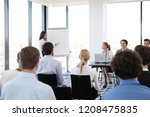 group of speakers at business... | Shutterstock . vector #1208475835