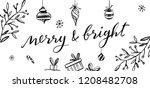merry and bright vector...   Shutterstock .eps vector #1208482708