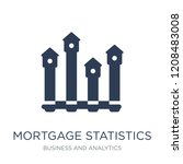 mortgage statistics icon.... | Shutterstock .eps vector #1208483008