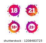 adult content icons. eighteen...   Shutterstock .eps vector #1208483725