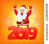 santa claus with the symbol of...   Shutterstock .eps vector #1208489008