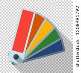 color palette icon in flat... | Shutterstock .eps vector #1208491792