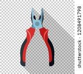 open pliers icon in flat style... | Shutterstock .eps vector #1208491798