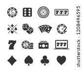 vector image set of gambling... | Shutterstock .eps vector #1208496595