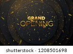 grand opening. business startup ... | Shutterstock .eps vector #1208501698