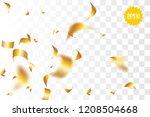 random falling golden glitter... | Shutterstock .eps vector #1208504668