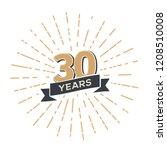 thirty five anniversary retro... | Shutterstock .eps vector #1208510008