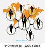 company structure | Shutterstock .eps vector #120851086