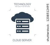 cloud server icon. high quality ... | Shutterstock .eps vector #1208512495