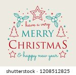 christmas greeting with... | Shutterstock .eps vector #1208512825