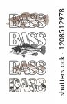 bass fish icons | Shutterstock .eps vector #1208512978