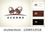oak tree logo. acorn vector. | Shutterstock .eps vector #1208513518