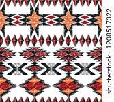 tribal aztec geometric pattern. ... | Shutterstock .eps vector #1208517322