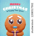 merry christmas greeting cards... | Shutterstock .eps vector #1208517502