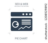 pie chart icon. high quality...