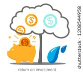 investment strategy  income... | Shutterstock .eps vector #1208544958