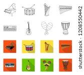vector illustration of music... | Shutterstock .eps vector #1208550442