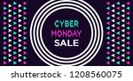 cyber monday sale  banner.... | Shutterstock .eps vector #1208560075