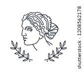 venus  the ancient greek... | Shutterstock .eps vector #1208562178