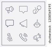 outline 9 communicate icon set. ...   Shutterstock .eps vector #1208569195