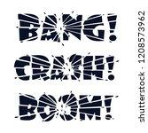 lettering bang  crash  boom....   Shutterstock .eps vector #1208573962