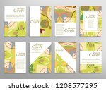 set of a4 cover  abstract... | Shutterstock .eps vector #1208577295