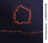 edge of burning paper. round... | Shutterstock .eps vector #1208594458