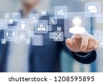 technical support concept ... | Shutterstock . vector #1208595895
