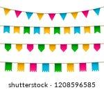 vector set of realistic... | Shutterstock .eps vector #1208596585