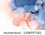hand painted ink texture.... | Shutterstock . vector #1208597182