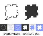 speech bubble black linear and...   Shutterstock .eps vector #1208612158