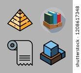 document icon set. vector set... | Shutterstock .eps vector #1208617348