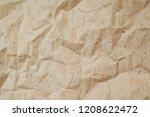 craft paper texture background. ... | Shutterstock . vector #1208622472