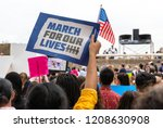 Stock photo texas students and their families protest for gun control in march for our lives rally 1208630908