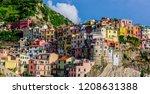 picturesque town of manarola ...   Shutterstock . vector #1208631388