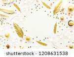 christmas background. flat lay...   Shutterstock . vector #1208631538