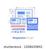 responsive design  doodle flat...