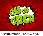 omg ouch oops comic text speech ... | Shutterstock .eps vector #1208635732