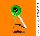 set of halloween element.... | Shutterstock .eps vector #1208639812