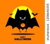 set of halloween element.... | Shutterstock .eps vector #1208640355