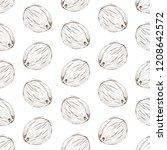 coconut seamless pattern  vector | Shutterstock .eps vector #1208642572